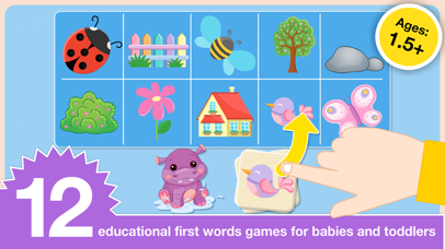 Preschool First Words Baby Toddlers Learning Games