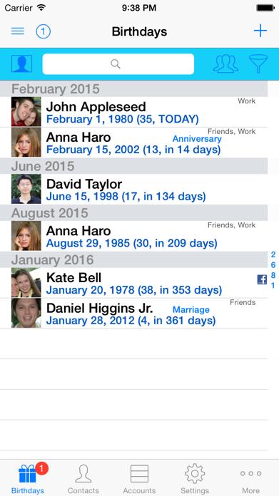 BirthdaysPro Screenshot