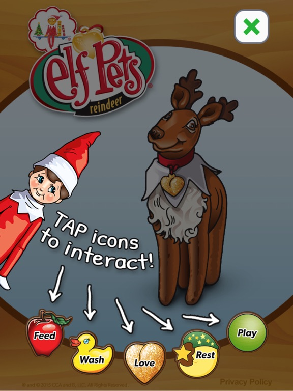 Screenshot #1 for Elf Pets® Virtual Reindeer