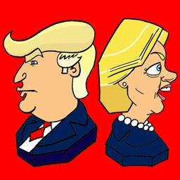 Busted Politics: Trump & Hillary Emoji Stickers