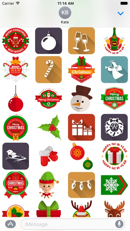 Holiday and Christmas Stickers screenshot-3