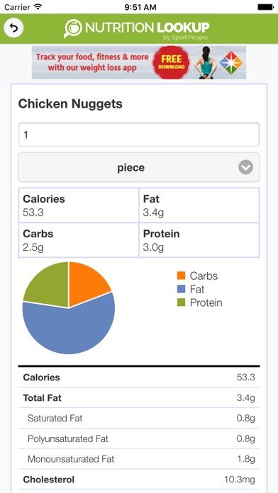 Nutrition Lookup by SparkPeople - AppRecs