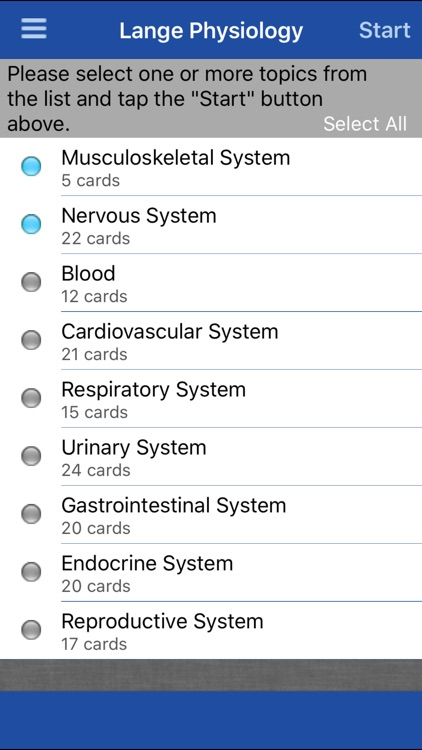 Physiology Lange Flash Cards