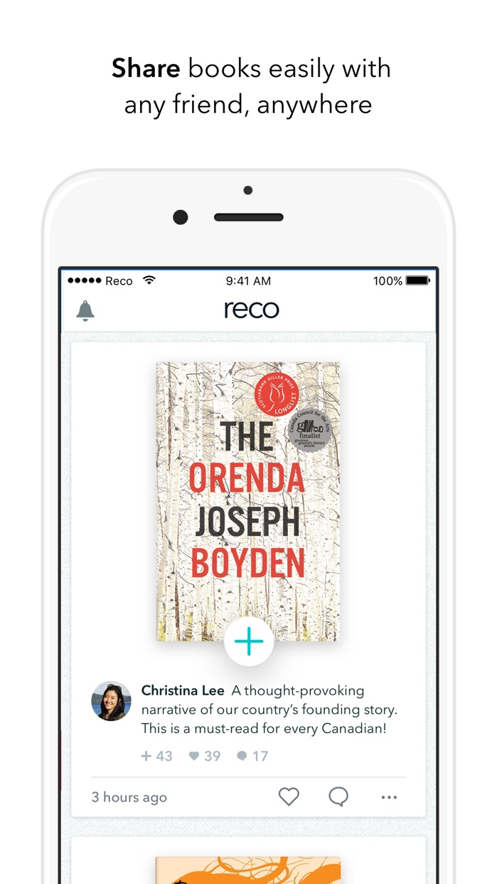 Reco - Great books from real people Screenshot