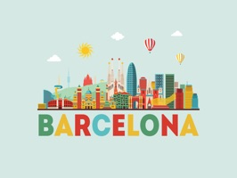 Express yourself in richer ways by using this adorable Barcelona Sticker Pack