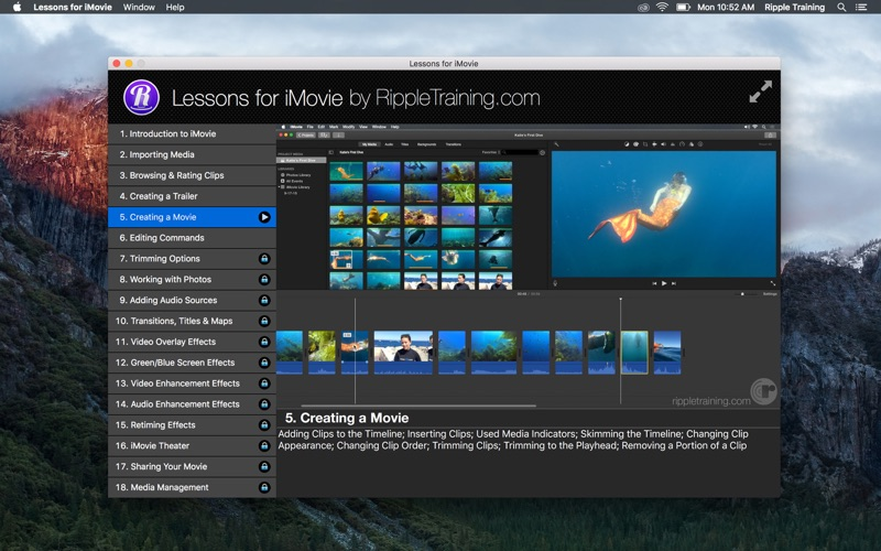 Lessons for iMovie by Stephen Martin