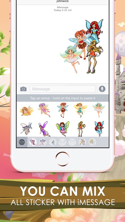 Fairy Tale Emoji Sticker Keyboard Themes ChatStick