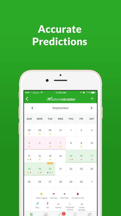 Ovulation Calculator Fertile Tracker & Calendar OC screenshot two