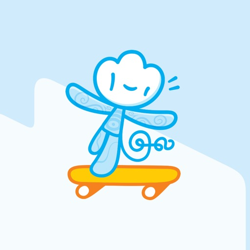 Iconfactory Big Happy Cloud Stickers