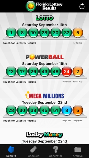 Florida Lotto Results on the App Store