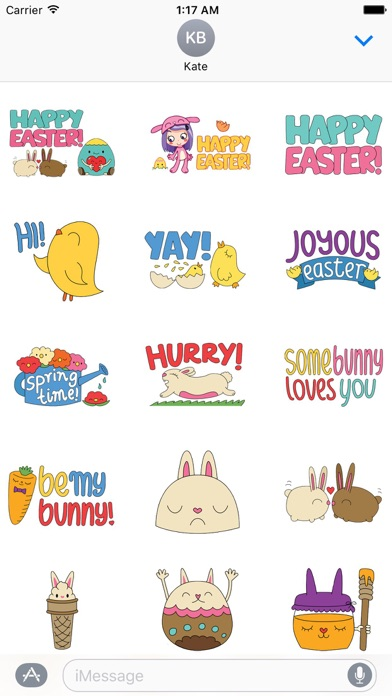 Happy Easter Colorful Sticker screenshot 1