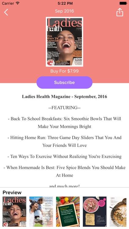 Ladies Health Magazine