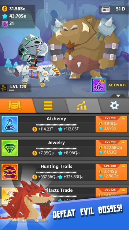 Hero Simulator: clicker game and idle adventure