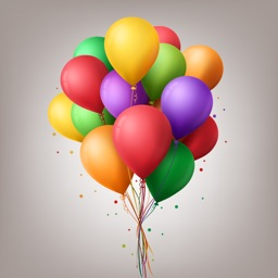 Animated Balloons Text Sticker