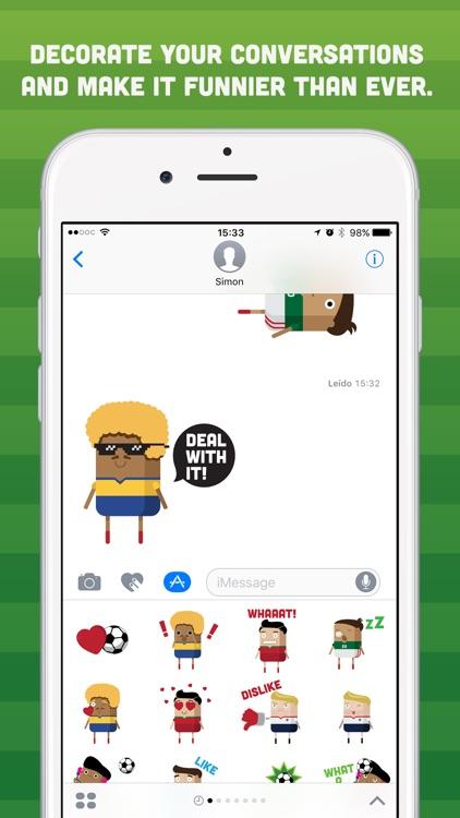 Brickmoji Stickers: Soccer Edition screenshot-3