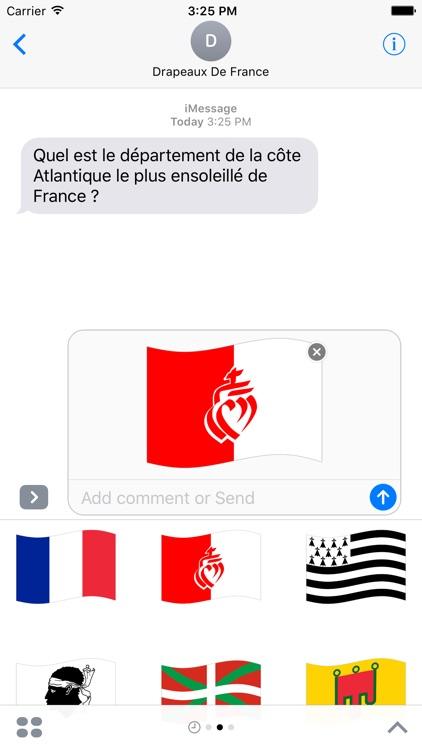 Drapeaux de France Stickers screenshot-3