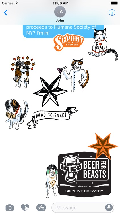 Beer For Beasts Stickers - Sixpoint