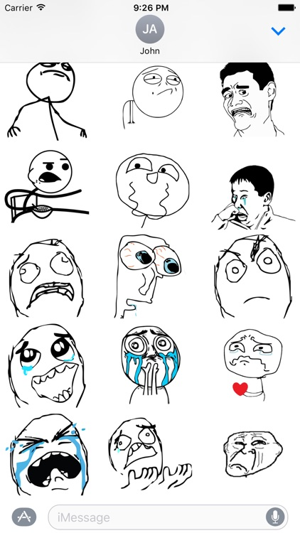 Memes - Rage Comic Stickers for iMessage screenshot-2