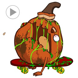 Zombie Fruit - Animated Stickers