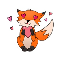 Fox Cute Sticker For iMessages