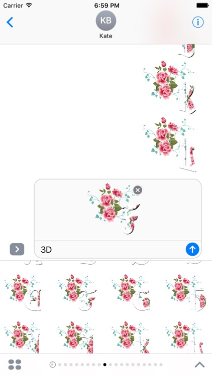 3D Flowers Stickers Pack For iMessage screenshot-1