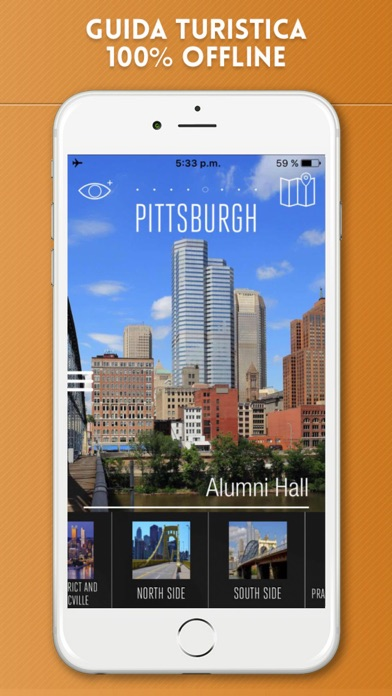 Screenshot of Pittsburgh Guida Turistica con Mappe Offline1