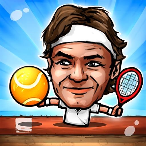 Кукольный Теннис: Турнир Topspin большая голова Marionette легенды