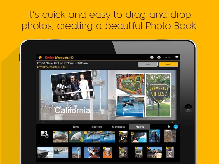KODAK MOMENTS HD Tablet App.