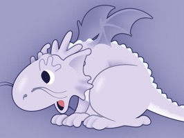 Add to your messages or photos a cute baby dragon to share your mood or thoughts