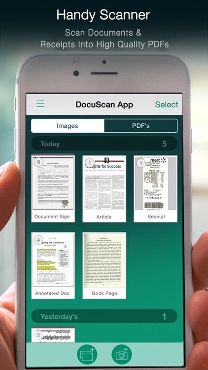 Docu Scan - Document Scanner, PDF Converter and Receipt Organizer