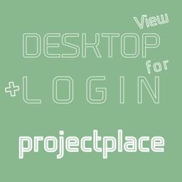 DESKTOP VIEW + LOGIN for projectplace