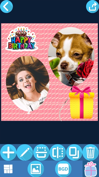 Birthday Picture Collage Maker – Cute Photo Editor screenshot-4