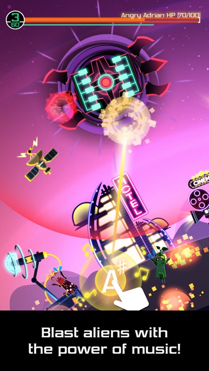 Groove Planet - Rhythm Clicker with your Songs screenshot-0