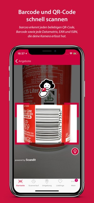 barcoo - QR & Barcode Scanner Screenshot