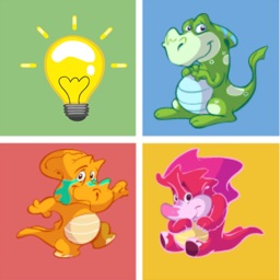 Dinosaur matching remember game preschool matching