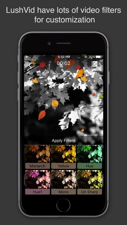 Lush Vid Video Editor & Maker with Music & Effects screenshot-0