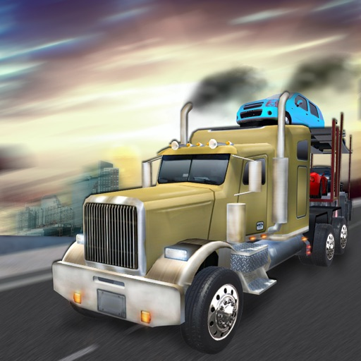 Extreme Driving Car Transporter Truck 3D