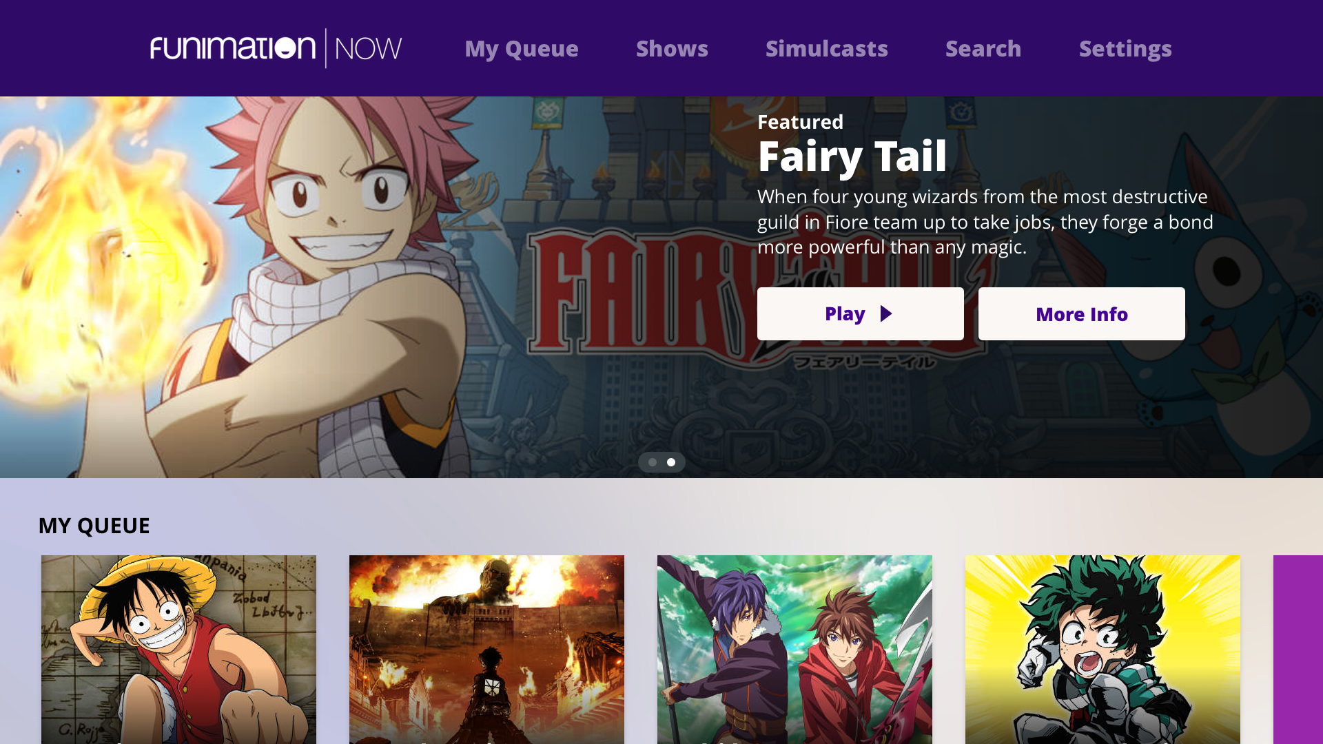 Funimation screenshot 11
