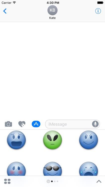 Blue Emoticon