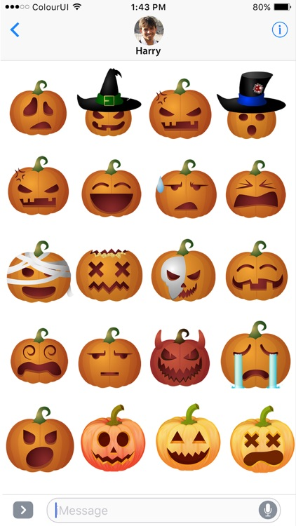 Halloween Emojis • Scary Sticker Pack for iMessage