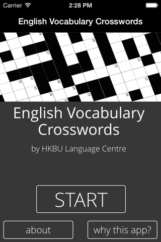 English Vocabulary Crosswords - náhled