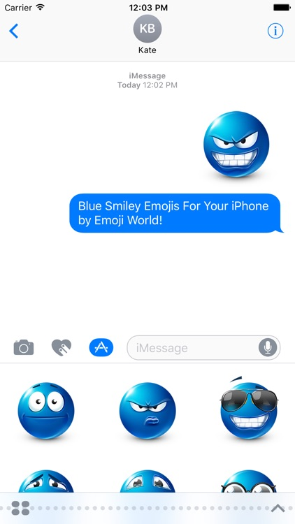 Blue Emoji Stickers