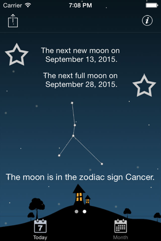 Sky and Moon phases calendar screenshot 3