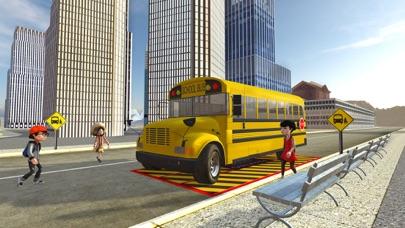 Crazy School Bus Transport Sim screenshot four