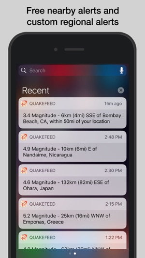 Quakefeed earthquake alerts on the app store gumiabroncs Gallery