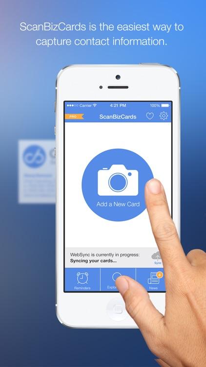 ScanBizCards Business Card Reader