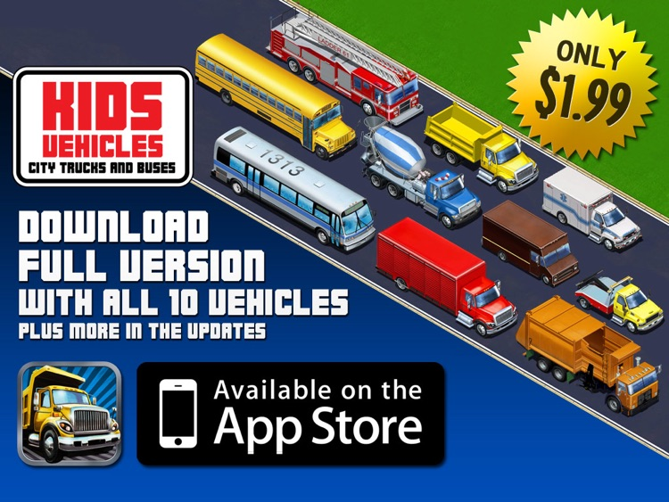 Kids Vehicles: City Trucks & Buses HD Lite screenshot-3