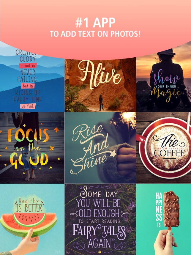 Typic - Text on Photos Screenshot