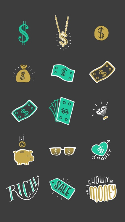 Richify! Money-themed stickers for iMessage screenshot-4