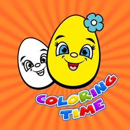 Eggs Time Coloring Books
